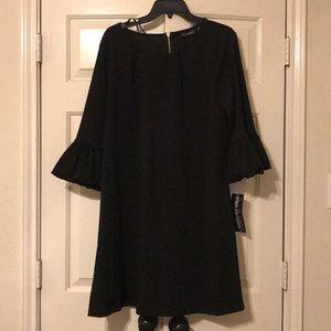 Nina Leonard Bubble Sleeve Dress